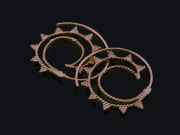 """Ohrhänger """"Spirale"""" rosevergoldet (30mm)"""
