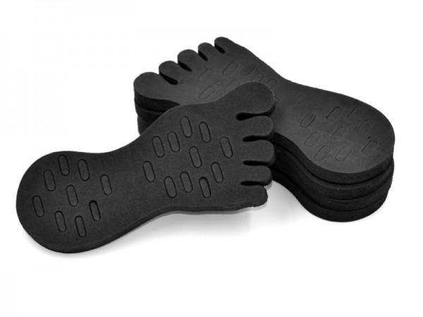 Schaumstoff Fuß schwarz 5St.