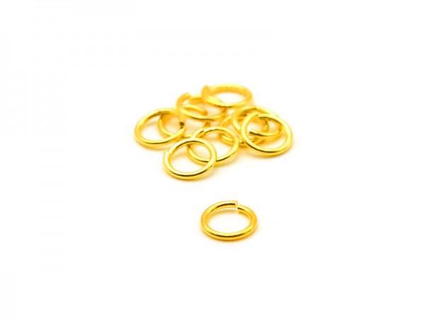 Biegeringe offen (0,9mm) (4,5mm) 10St. vergoldet
