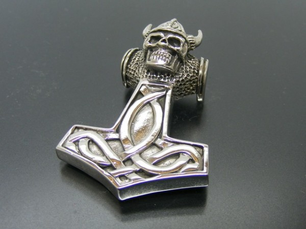 """Anhänger """"Thors Hammer"""" mit Skull"""