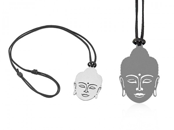 """Kette """"Buddha"""" mit Edelstahlanhänger"""