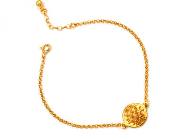 Armband Zauberhaft Blume des lebens vergoldet