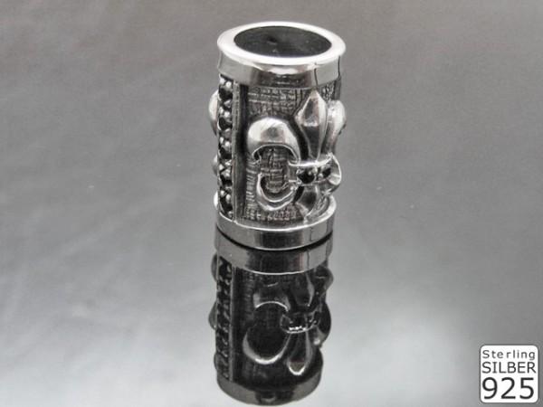 Hülse 925er Silber mit Steinen