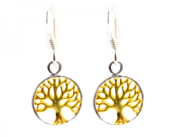 "Ohrhänger ""Baum des Lebens"" (11mm) vergoldet"