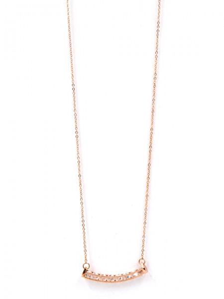 """Edelstahlkette """"Bogen"""" rosevergoldet (44-49cm)"""