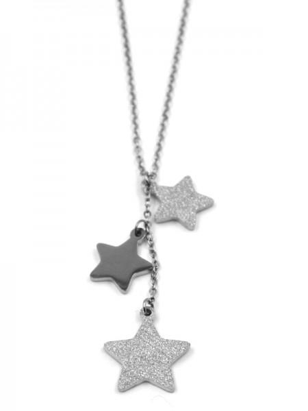 Edelstahlkette mit Sterne (45cm + 5cm)