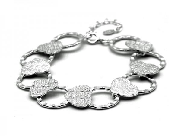 """Armband """"Berrin"""" (Herz) (17+4cm)"""