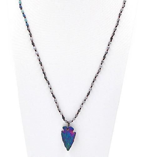 """Glassteinkette """"Akazia"""" (85 cm )"""