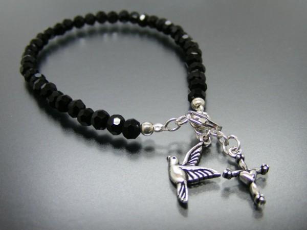 Armband mit Taube und Kreuz