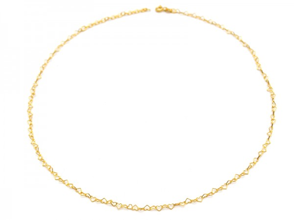 "Gliederkette ""Herzen"" (40+5cm) vergoldet"