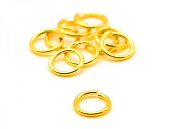 Biegeringe offen (1,2mm) (9mm) 10St. vergoldet