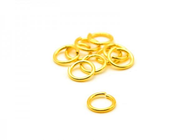 Biegeringe offen (1,2mm) (6mm) 10St. vergoldet