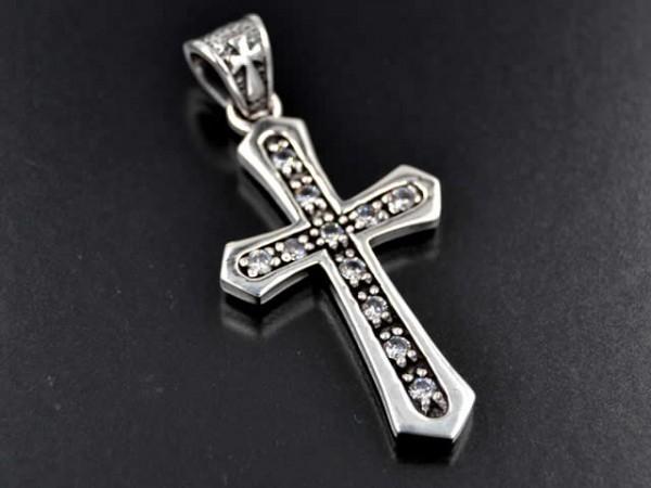 """Anhänger """"Kreuz mit Stein"""", Crystal"""