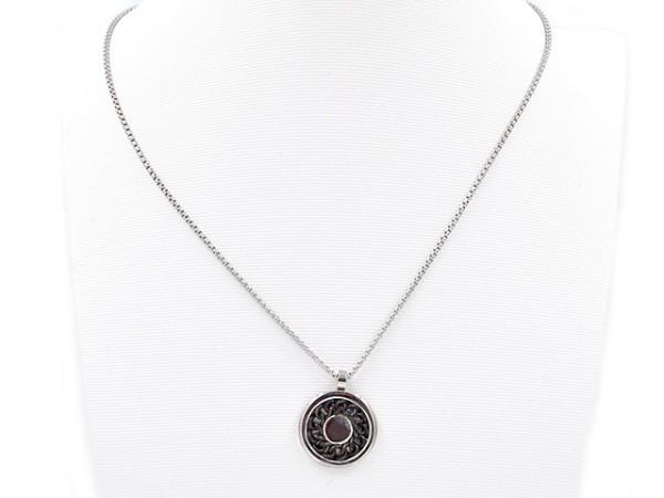 "Edelstahlkette ""Black Circle"" (50 cm)"