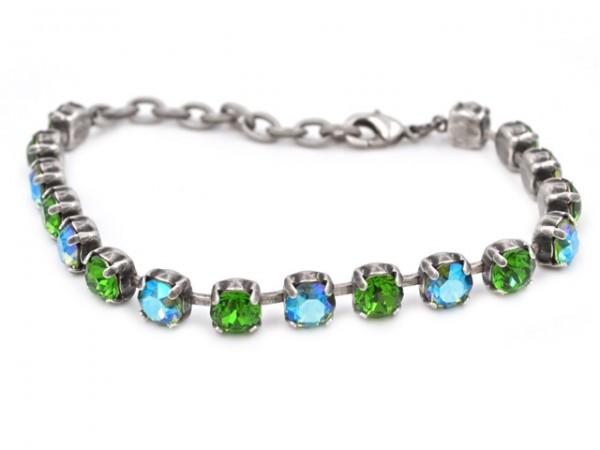 """Armband """"Shimmering Erenite"""" besetzt mit Swarovski Kristallen"""