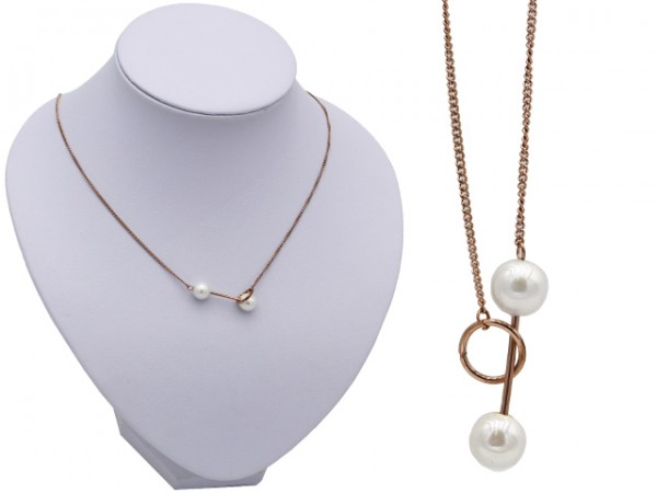 """Edelstahlkette """"Pearl"""" (42+5cm)"""