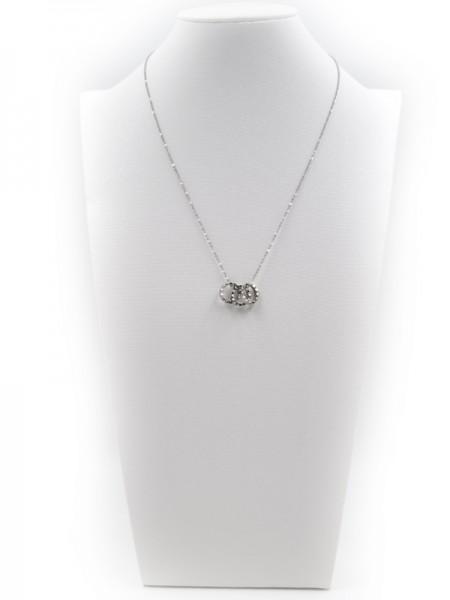 """Edelstahlkette """"Ring"""" (40+5 cm)"""