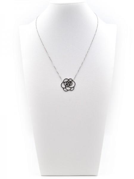 """Edelstahlkette """"Flower"""" (45+5 cm)"""
