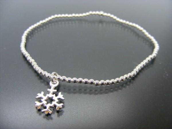 """Kugelarmband """"Snowflake"""" (18cm)"""