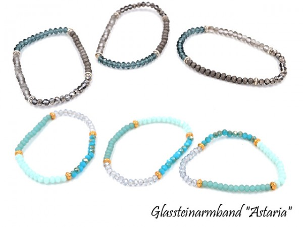 "Glassteinarmband ""Astaria"" (3 Stück)"
