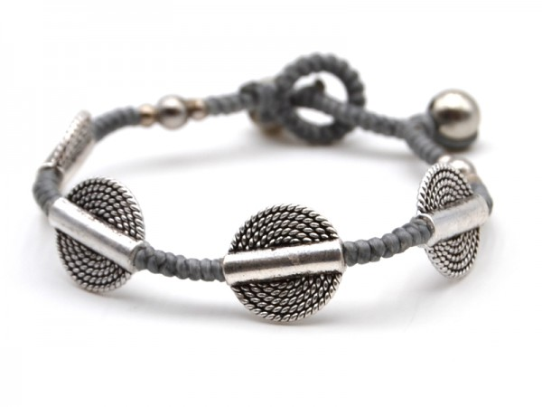 "Armband ""Benno"" (silver and grey)"