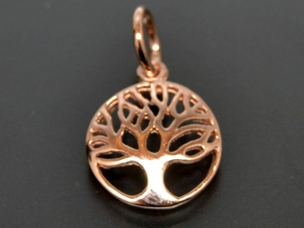 "Anhänger ""Baum des Lebens"" rosevergoldet"
