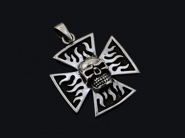 """Anhänger """"Eisernes Kreuz"""" mit Totenkopf"""