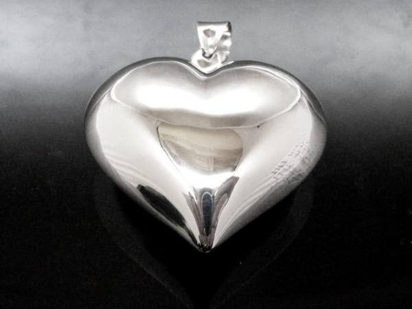 Herz Medaillonanhänger schlicht (M35)