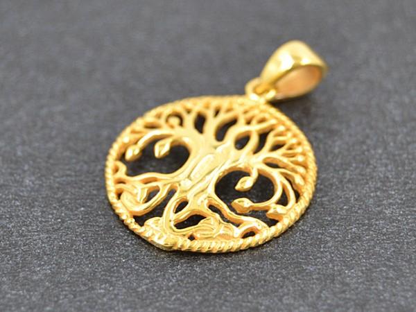 """Anhänger """"Baum des Lebens"""", vergoldet"""