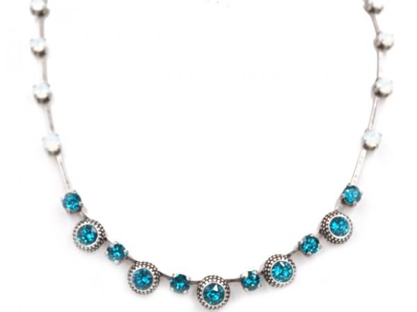 "Collier ""Lea Blue Zircon"" (45 - 50 cm)"