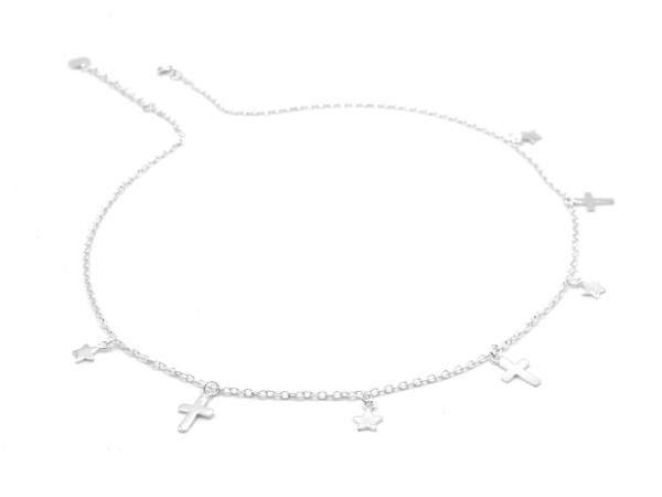 """Collier """"Star and Cross"""" (50+5cm)"""