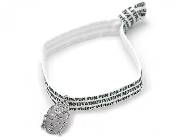 "Armband ""Buddha"" mit Edelstahl"