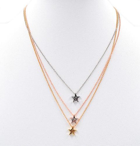"""Collier Tricolor """"Star"""" (44 cm + 5cm)"""