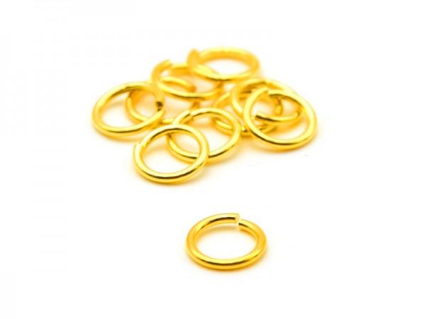 Biegeringe offen (1mm) (7mm) 10St. vergoldet