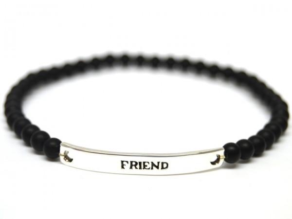 Armband Black Pearl - Friend