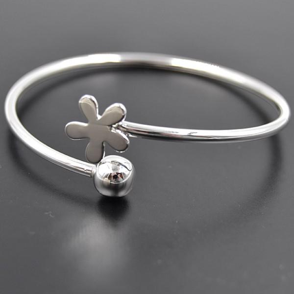 "Silberarmreifen ""Blume"""