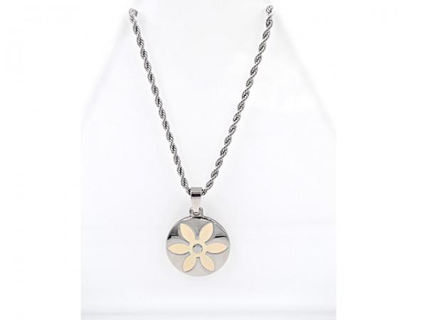 """Edelstahlkette """"Blume"""" (45 cm)"""