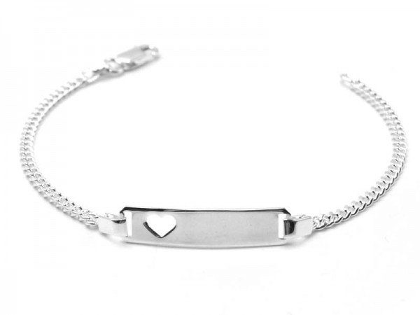"Armband ""Figaro mit Herz"" (19cm)"