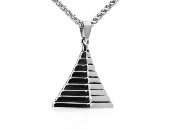 """Edelstahlanhänger """"Pyramide"""""""