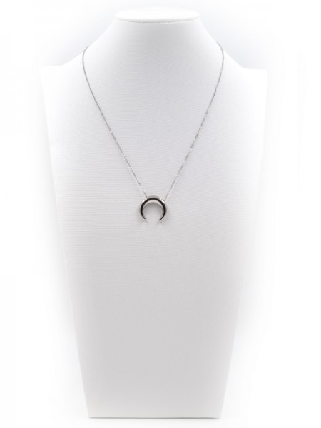 """Edelstahlkette """"Moon"""" (45+5 cm)"""