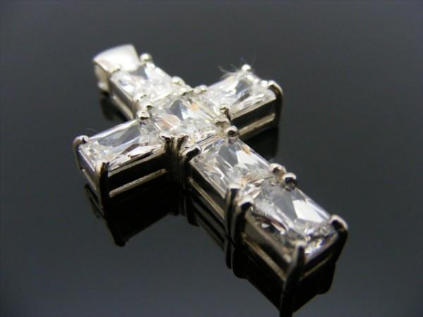Anhänger - Kreuz mit Stein