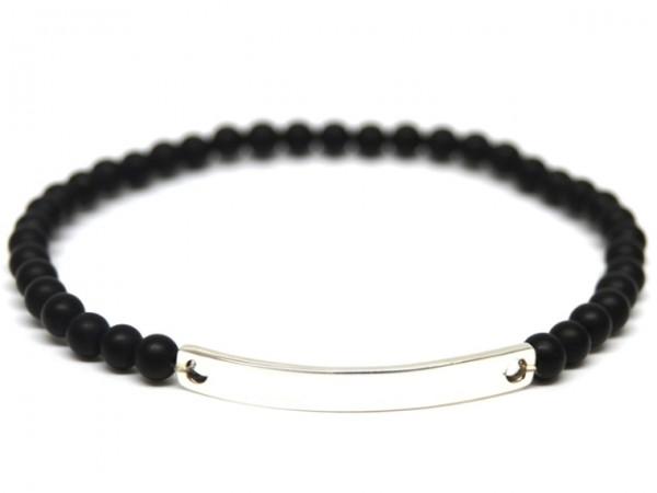 Armband Black Pearl - Gravurplatte