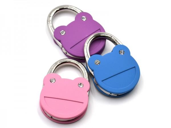 """Handtaschenhalter """"Frog"""" Violet"""