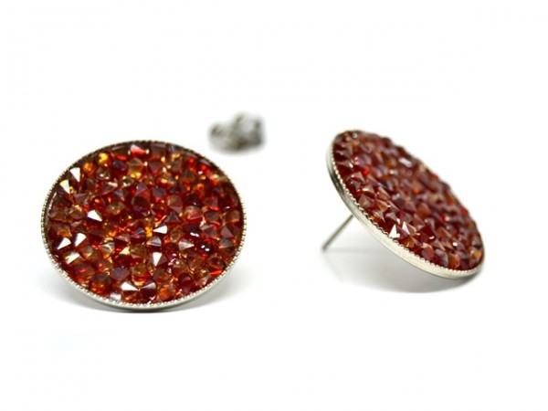 """Ohrstecker """"Crystal Rocks"""" , Red Magma"""