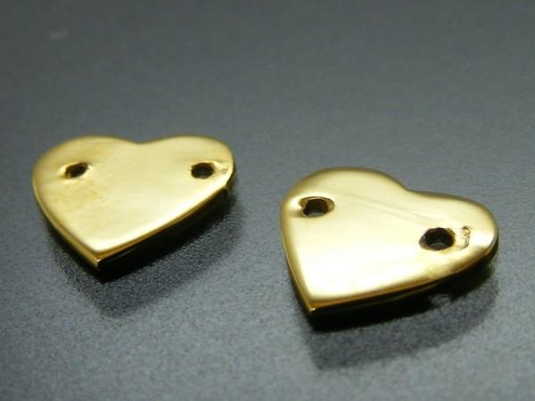 Herz (8 mm) vergoldet