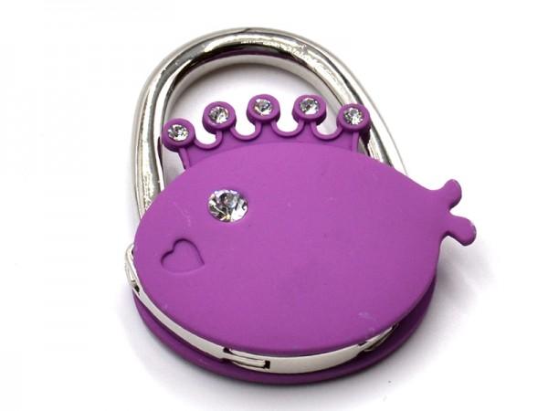 """Handtaschenhalter """"Fisch"""" Violet"""