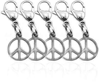 """Edelstahlanhänger """"Peace"""" (5ER SET)"""