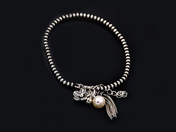 """Kugelarmband """"Basia"""" Blume (17+3cm)"""