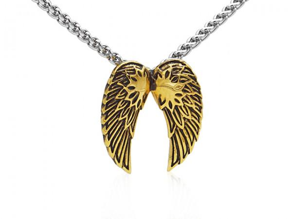 """Edelstahlanhänger """"Flügel klein"""" gold"""