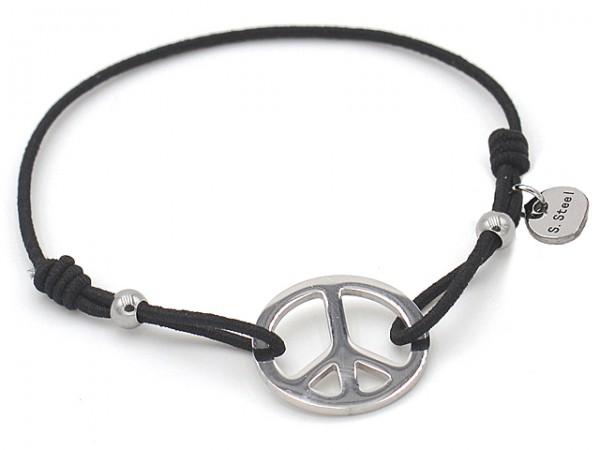 "Armband ""Peace"" mit Edelstahl"